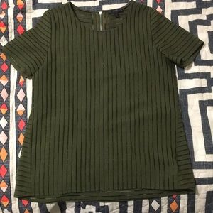 J. Crew shadow stripe top size 8